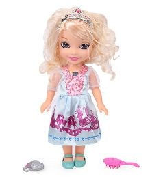 Smiles Creations Articulated Doll With Accessories Music & Light Blue - 31 cm