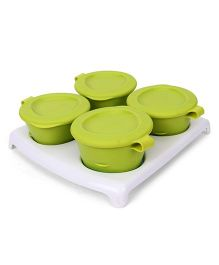 Tommee Tippee Pop Up Freezer Pots And Tray - Green