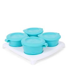 Tommee Tippee Pop Up Freezer Pots And Tray - Sea Green