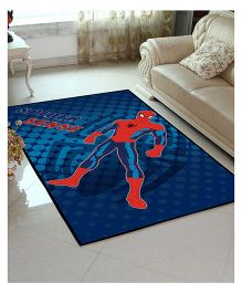 Marvel Athom Trendz Spider Man Polyester Carpet - Blue