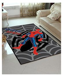Marvel Athom Trendz Spider Man Polyester Carpet - Grey