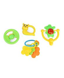 Smiles Creations Rattle Pack Of 4 (Styles May Vary)