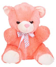 Dimpy Stuff Teddy Bear Soft Toy Peach - Height 28 cm