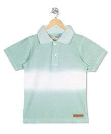 Raine And Jaine Polo Neck Tee - Green
