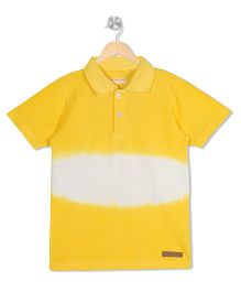 Raine And Jaine Polo Neck Tee - Yellow