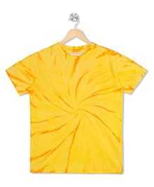 Raine And Jaine Tie & Dye Tee - Yellow