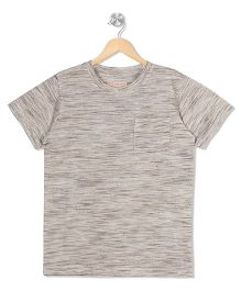 Raine And Jaine Front Pocket Tee - Grey