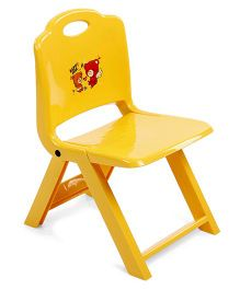 Foldable Baby Chair Teddy Print - Yellow