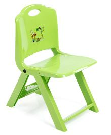 Foldable Baby Chair Teddy Print - Green