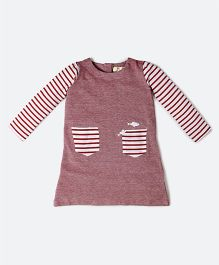 MilkTeeth Remora Striped Tunic - Red