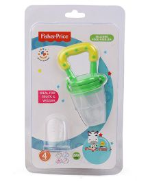 Fisher Price Silicone Food Nibbler Yellow Green - 10.5 cm