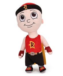 Mighty Raju Soft Toy Red And Cream - Height 33 cm