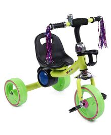 Baby Musical Tricycle With Bell - Green