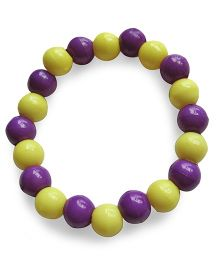 Milonee Beads Bracelet - Yellow & Purple