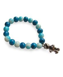Milonee Beads Bracelet With Teddy Charm - Dark Blue & Light Blue