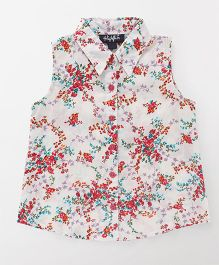 Highflier Red Floral Print Shirt - White