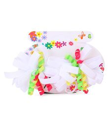 Bowtastic Loopy Flower Clip Set Of 2 - White
