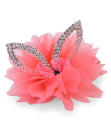 Bowtastic Rabbit Ear Clip - Peach
