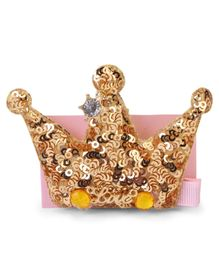 Bowtastic Crown Clip - Gold