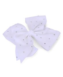 Bowtastic Large Bow Clip - White