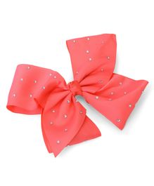 Bowtastic Large Bow Clip - Coral