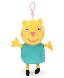 Peppa Pig Candy Cat Clip On Soft Toy Yellow Green - Height 19 cm