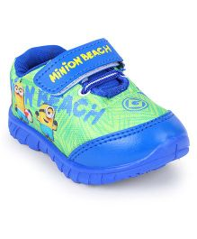 Minions Sports Shoes Velcro Closure - Blue & Green