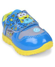 Minions Sports Shoes Velcro Closure - Blue & Yellow