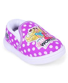 Barbie Slip On Shoes Polka Dots Print - Purple