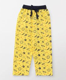 Fido Full Length Lounge Pant Universe Print - Yellow
