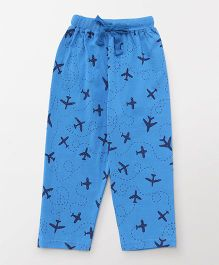 Fido Full Length Lounge Pant Airplane Print - Royal Blue