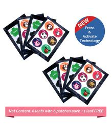 Safe-O-Kid Anti-Mosquito Patches Assorted Shapes - 48 Patches