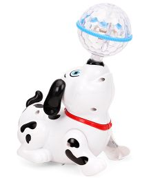 Smiles Creation Dog With Crystal Ball - White