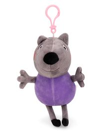 Peppa Pig Danny Puppy Plush Clip On Soft Toy Purple - 19 cm