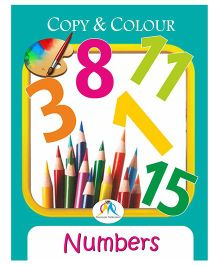 Copy & Colour Numbers Book - English