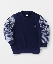 Teddy Full Sleeves Sleeves T-Shirt - Navy Blue