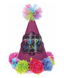 Wanna Party Hat Cone Birthday Chic - Pink