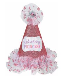 Wanna Party Hat Cone Birthday Princess - Pink