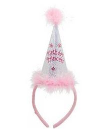 Birthday Princess Cone Headband - Pink