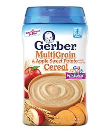 Gerber Multigrain & Apple Sweet Potato Cereal - 227 gm