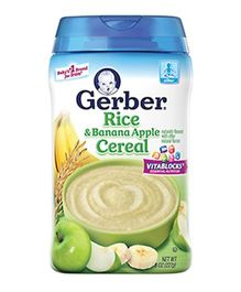 Gerber Rice & Banana Apple Cereal - 227 gm
