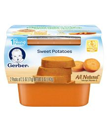Gerber Sweet Potatoes Ready To Use 1st Foods Pack Of 2 - 71 gm Each