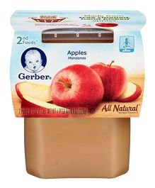 Gerber Apples Ready To Use 2nd Foods Pack Of 2 - 113 gm Each