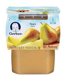 Gerber Pears Ready To Use 2nd Foods Pack Of 2 - 113 gm Each
