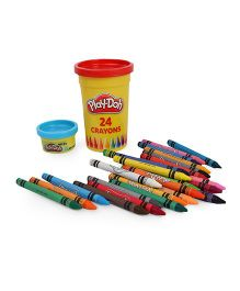 Play Doh Crayons With Mould Pack of 24 - Multicolour