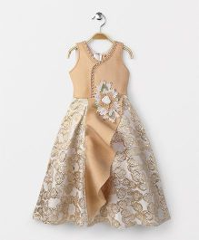 Enfance Party Wear Evening Gown - Golden