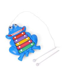 Prime Creations Pull Along Frog Xylophone - Blue