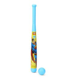 DC Comics Superman Blue Baseball Bat And Ball Set