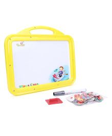 Funworld 2 In 1 ABC Puzzle White Board - Yellow
