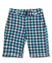 Pikaboo Shorts All Over Checks Print - Blue